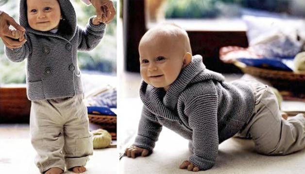 Jacken - Baby-Strickjacke mit Kapuze - ein Designerstück von lida276 bei DaWanda
