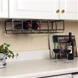 Six Bottle Under Cabinet Wine Rack - Eclectic - Wine Racks - atlanta ...
