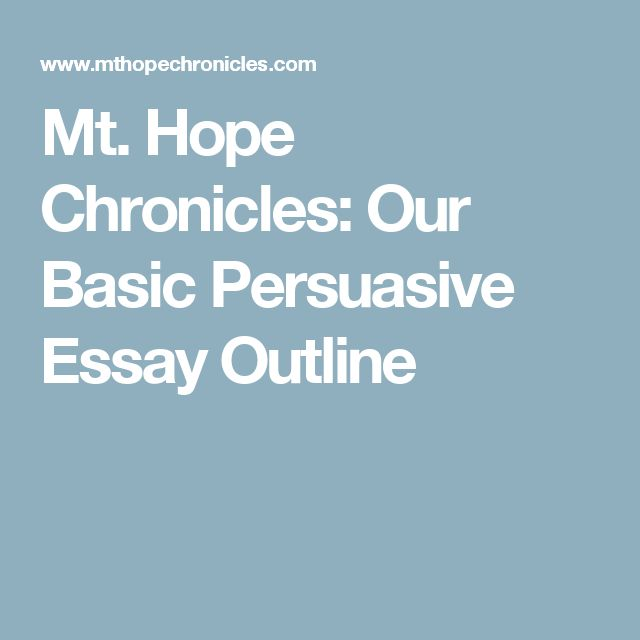 the best persuasive essay outline ideas  mt hope chronicles our basic persuasive essay outline