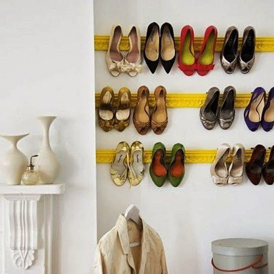 Our Fifth House: DIY Shoe Rack & Campaign Style Shoe Shelves