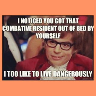 My job at a group home. I too like to live dangerously... ♥
