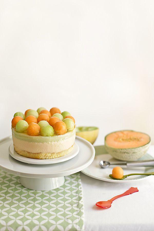 Cantaloup & Galia melon mousse tart