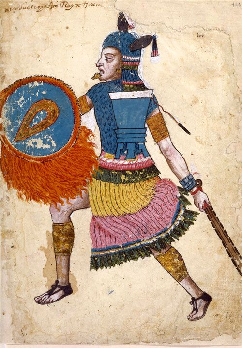 Netzahualcoyotl, Lord of Texcoco, from Codex Ixtlixochitl, (Netzahualcoyotl, rey de Texcoco, del Codice Ixtlixochitl), Mexico, Texcoco, c. 1582, Pigment on European paper, H: 31 cm, Bibliotèque National de France, Paris (MS Mexicain 65-71; fol 108).