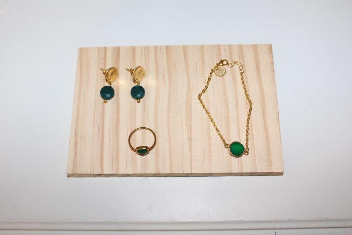 Conjunto de pulsera, anillo y pendientes  #invitada #boda #wedding #jewelry #guest