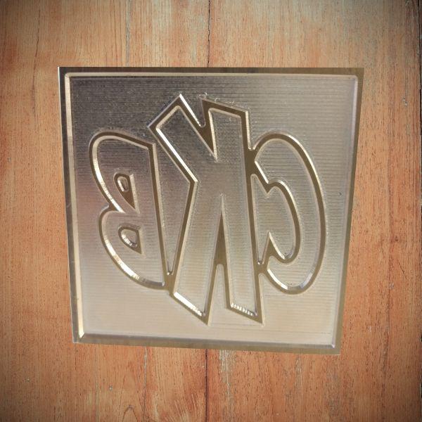 Timbro in ottone con manico per marcatura a caldo su panini, realizzato per una paninoteca di Ischia