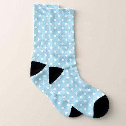 Blue Polka Dot Socks - pattern sample design template diy cyo customize