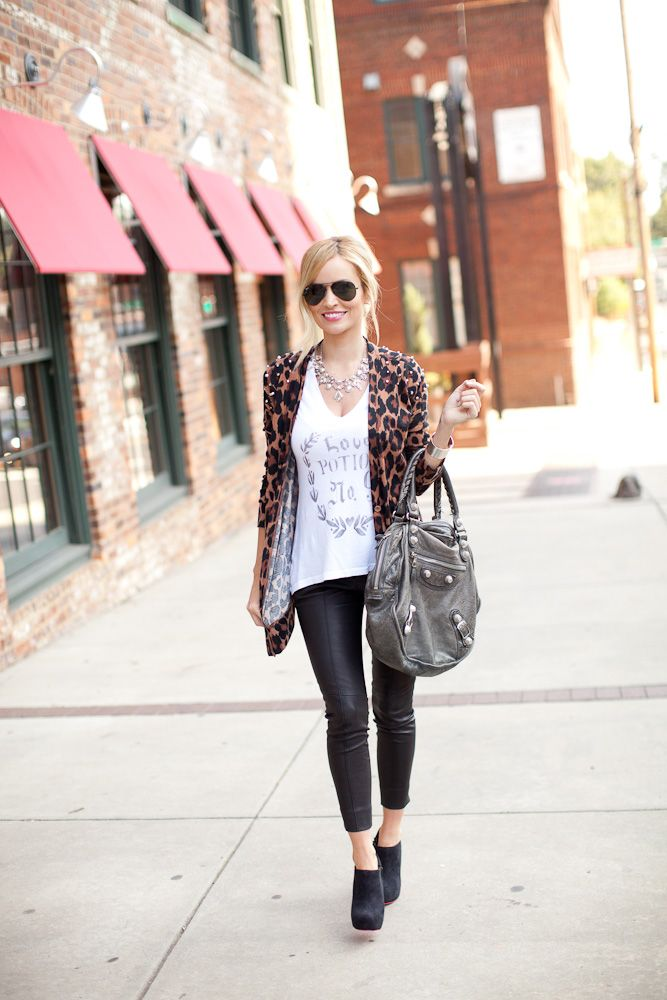 Emily maynard...leopard and leather: