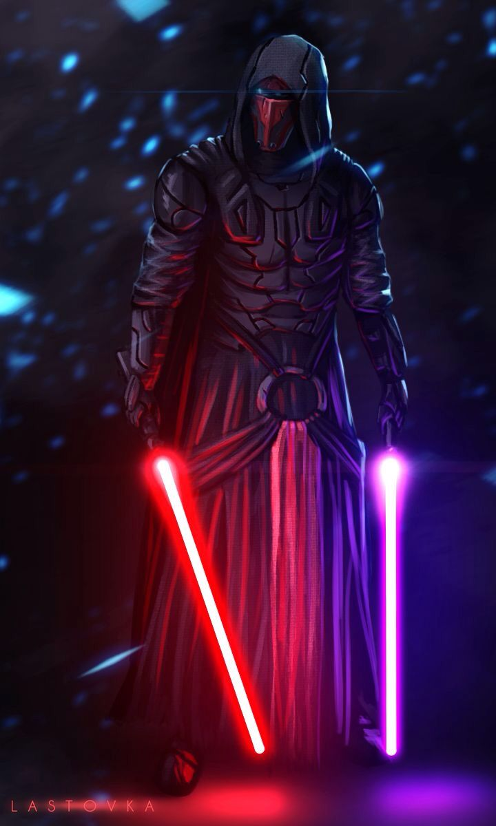 Darth Revan - Always envisioned I'd be a duel lightsaber wielder.  Two contrasting colours