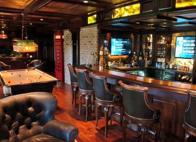 Man Cave Kijiji : Exquisite pub basement man cave british feel house
