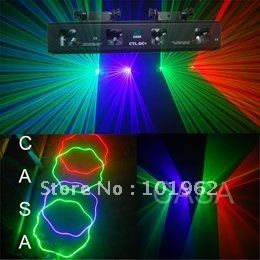 195.00$  Watch now - http://aliem6.worldwells.pw/go.php?t=584840432 - 4 lens 230mw 3 mixed color RGP laser dj equipment fast shipping hot sale