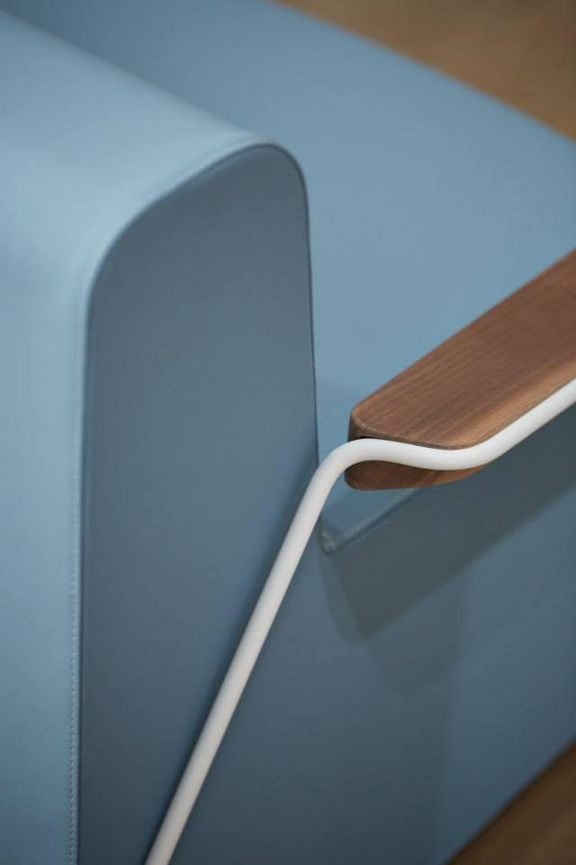 'Next to me' sofa detail. Designed by Jorge Herrera Studio for Stratta
