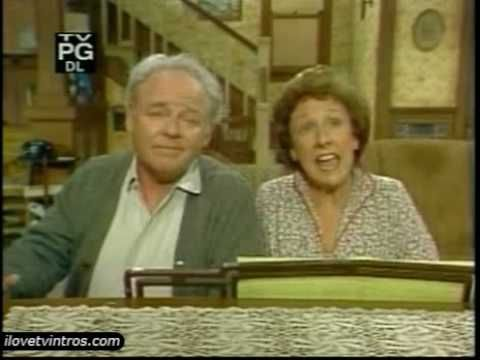 """All in the Family TV Intro (70's) - """"Those Were The Days""""....they sure were! RIP Edith Bunker...thanks for the memories."""