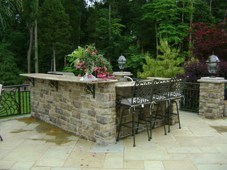 8 best outdoor kitchen images on pinterest outdoor for Small backyard outdoor kitchen