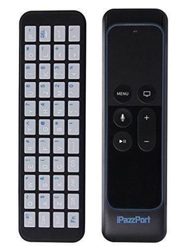 iPazzPort Apple TV Remote Keyboard for Apple TV 4th Generation and Apple TV Case for Apple TV Siri Remote and Bluetooth Connection for Type and Search KP-810-56S