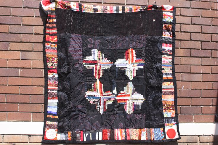 Scrappy log cabin quilt by Jess Wheelahan 2012