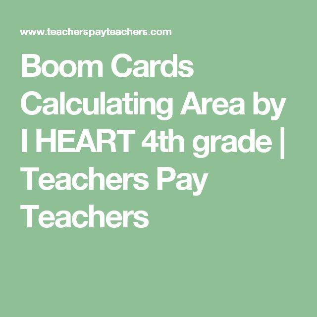 Boom Cards Calculating Area by I HEART 4th grade | Teachers Pay Teachers