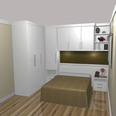 Cama e armário para economizar espaço