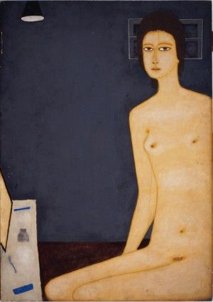 """Jerzy Nowosielski (1923-2011)   """"Akt - toaleta z lampą"""""""