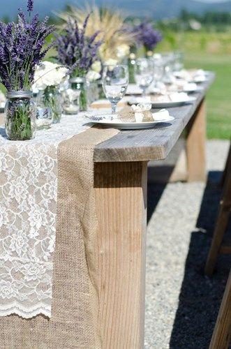 свадьба в стиле прованс на природе