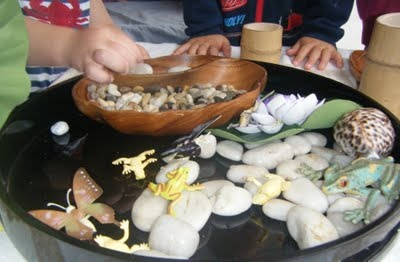 Build a pretend frog pond - from great play based learning blog