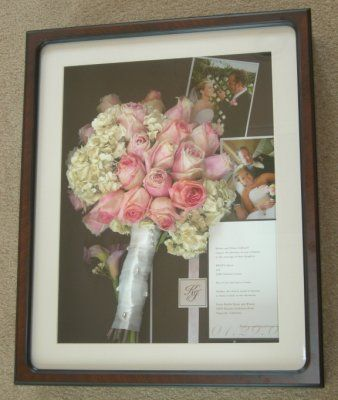 preserved bouquet shadow box?