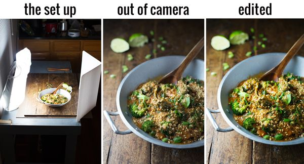 Side Lighting: Tips for Indoor Food Photography with Lowel EGO Digital Imaging Light  {Pinch of Yum}