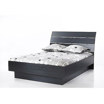 Beds and Bed Frames 175758: Laguna Queen Platform Bed With Headboard Black Woodgrain Mattress Not Included -> BUY IT NOW ONLY: $230.99 on eBay!