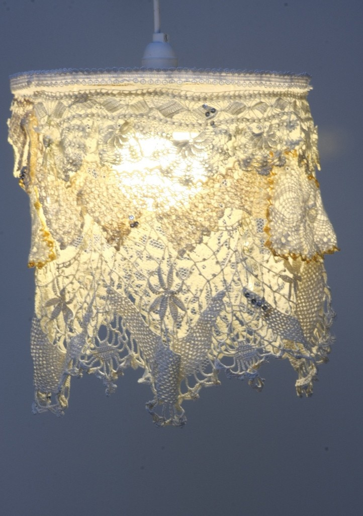 1000 images about light from artificial clouds on pinterest for Doily light fixture