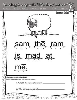Worksheets Teach Your Child To Read In 100 Easy Lessons Worksheets 1000 images about teach your child to read in 100 easy lessons on when i taught a combined class used the wonderful reading program i