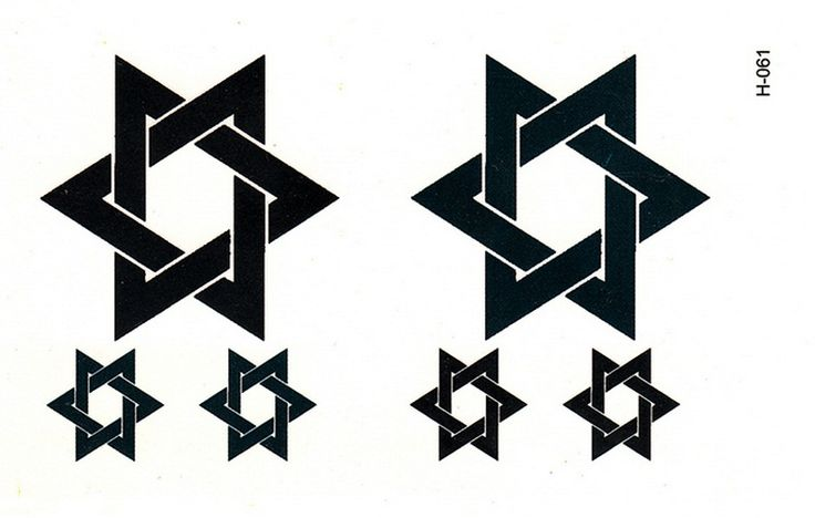 hot new tattoos hexagram stickers Men and women simulation lasting waterproof big black totem factory wholesale