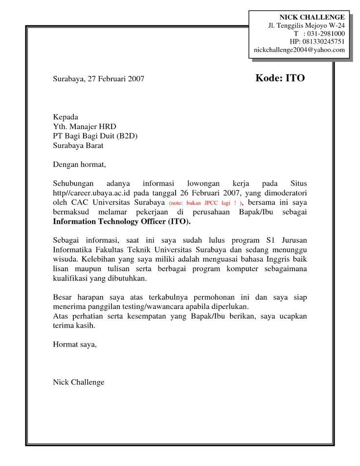 contoh application letter untuk job fair Related posts to contoh surat lamaran kerja fresh graduate untuk job fair  contoh application letter dan strukturnya contoh deskripsi kepribadian diri.