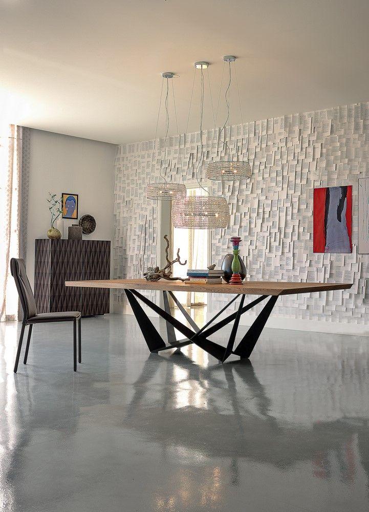 Tavolo Skorpio Wood, Cattelan Italia, base in metallo e piano in legno Lo trovi su http://www.mobilificiomarchese.com/shop/it