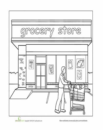 78 best images about occupations and community places on for Community places coloring pages