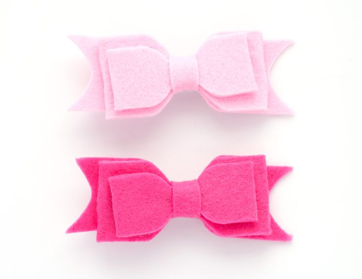 little pop pop large felt bow hair clip