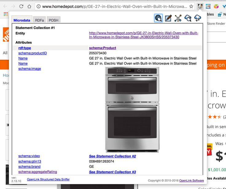 Home Depot page that leverages RDF-based Linked Data using terms from Schema.org vocabulary.  #LinkedData #Microdata #HTML5 #SchemaOrg #SemanticWeb