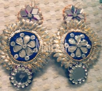 Our latest collection of handcrafted gota earrings Can be customized in any color  For further details contact on 8826217666