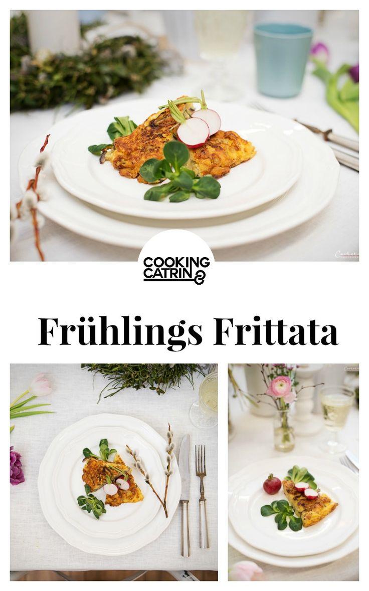 frittata, frühlings frittata, käse frittata, käse rezept, frühling, spring, frittata recipe, spring recipe, frühlings rezept, cheese recipe, cheese...http://www.cookingcatrin.at/fruehlings-frittata/