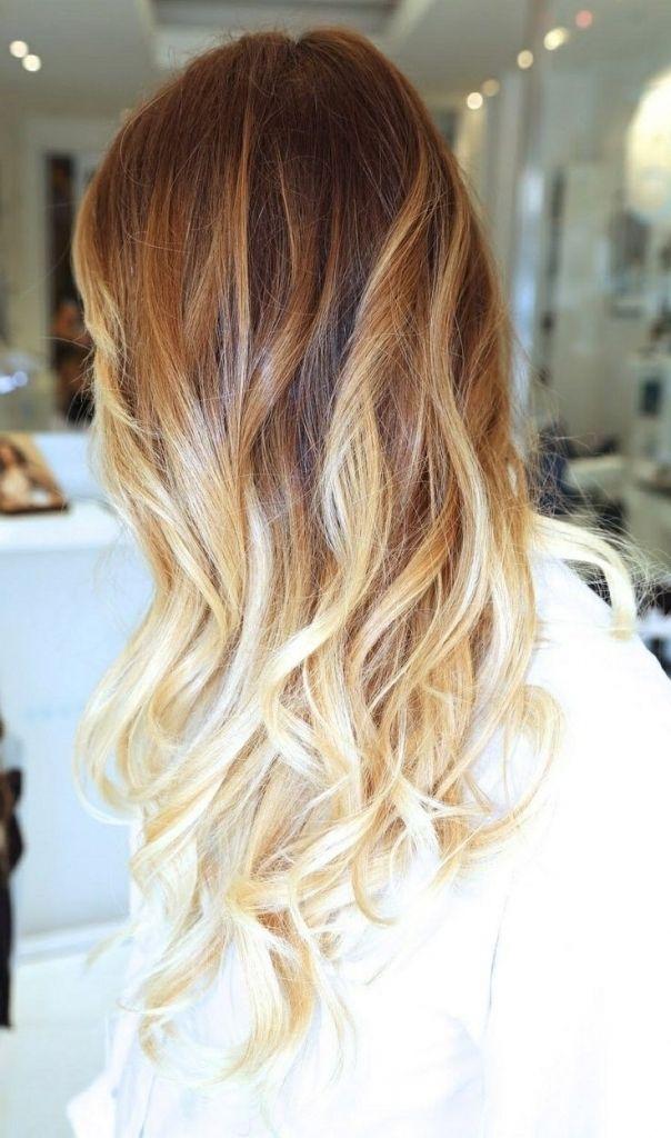 Karamell Blond Ombre Hair Frisuren Modelle Pinterest Braune