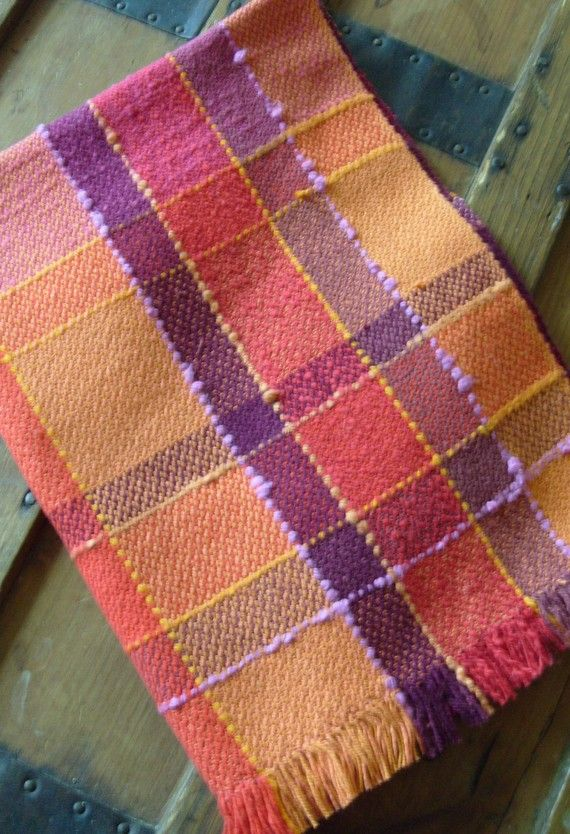 Handwoven Tea Towel Sunshine II by barefootweaver on Etsy