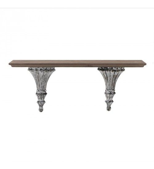 WOODEN WALL SHELF IN BROWN COLOR 63X15_5X27