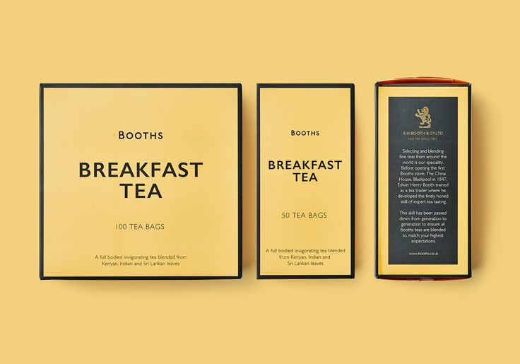 Booths Tea Range on Packaging of the World - Creative Package Design Gallery