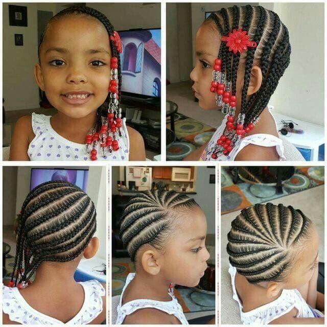 Cornrows On Natural Little Girl Coiffure Fillette Cheveux De Petites Filles Coiffures Pour Enfant
