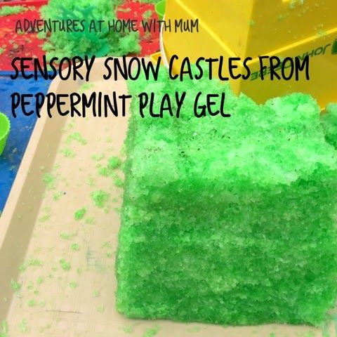 Adventures at home with Mum: Scented Instant Snow castles from play gel