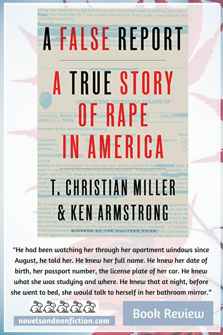 Read my five star review of nonfiction title A False Report by T. Christian Miller & Ken Armstrong, about a difficult but hugely important topic.