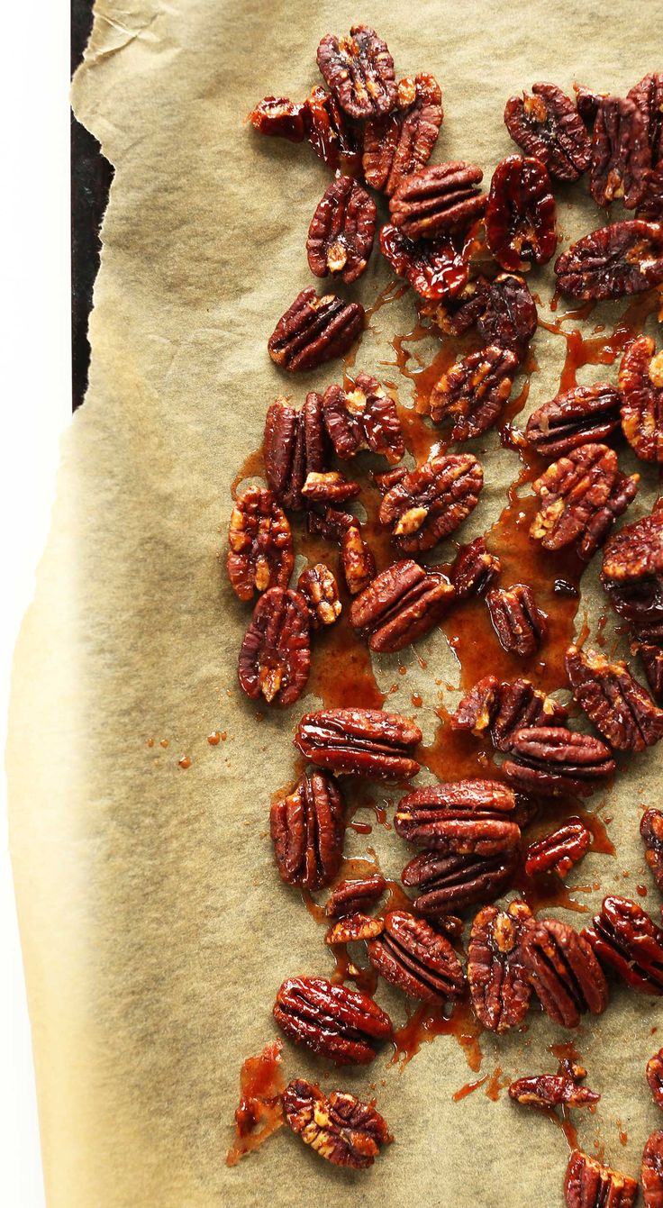Vegan Maple Roasted Pecans! #vegan #glutenfree