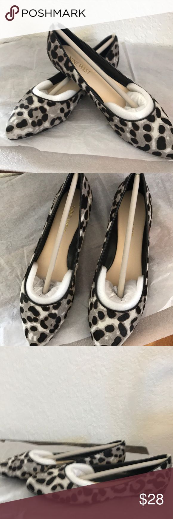 Real cow fur Nine West shoes. Brand new still in the box!!  Super cute flats! Nine West Shoes Flats & Loafers