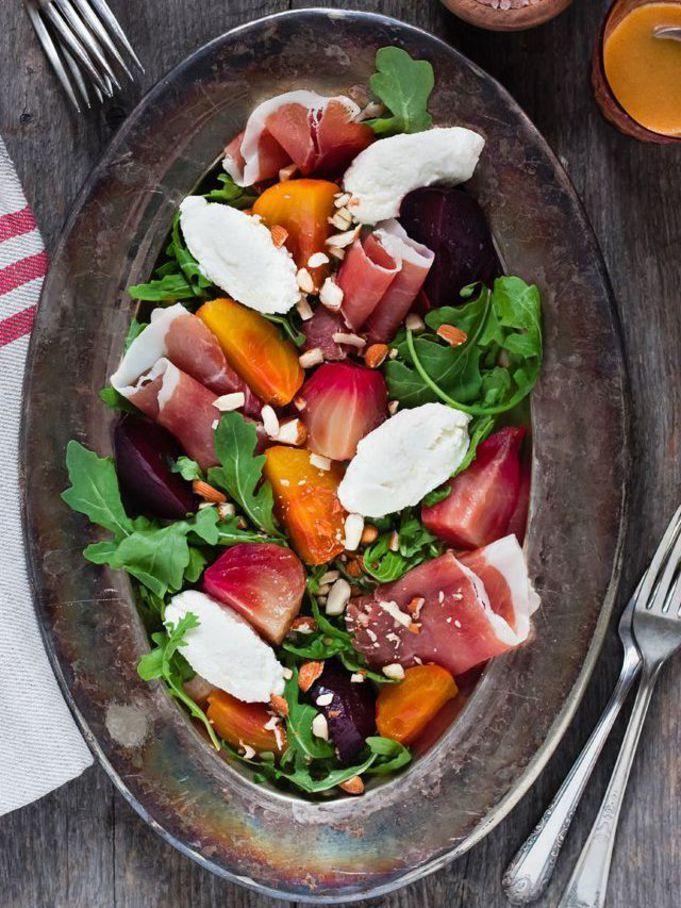 Salade betteraves et jambon cru