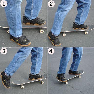 Skateboard Beginner Pushing