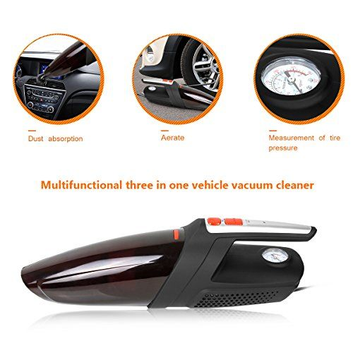 Car Vacuum Cleaner 12V 120W Super Strong Suction Wet & Dry Clean Work as Inflator / Tire Pressure Gauge Handheld Auto Vacuum Cleaner Review https://cordlessvacuumusa.info/car-vacuum-cleaner-12v-120w-super-strong-suction-wet-dry-clean-work-as-inflator-tire-pressure-gauge-handheld-auto-vacuum-cleaner-review/