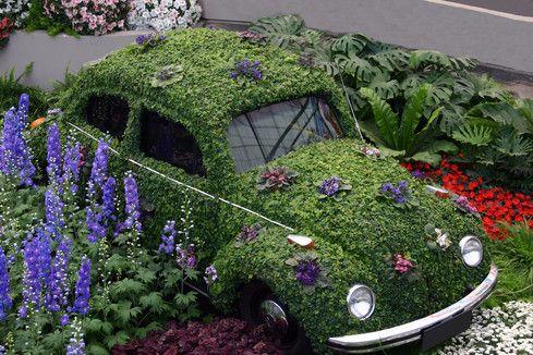 'Bug' In The Garden?...: Vw S, Garden Ideas, Vw Bugs, Garden Art, Cars, Gardens, Flower
